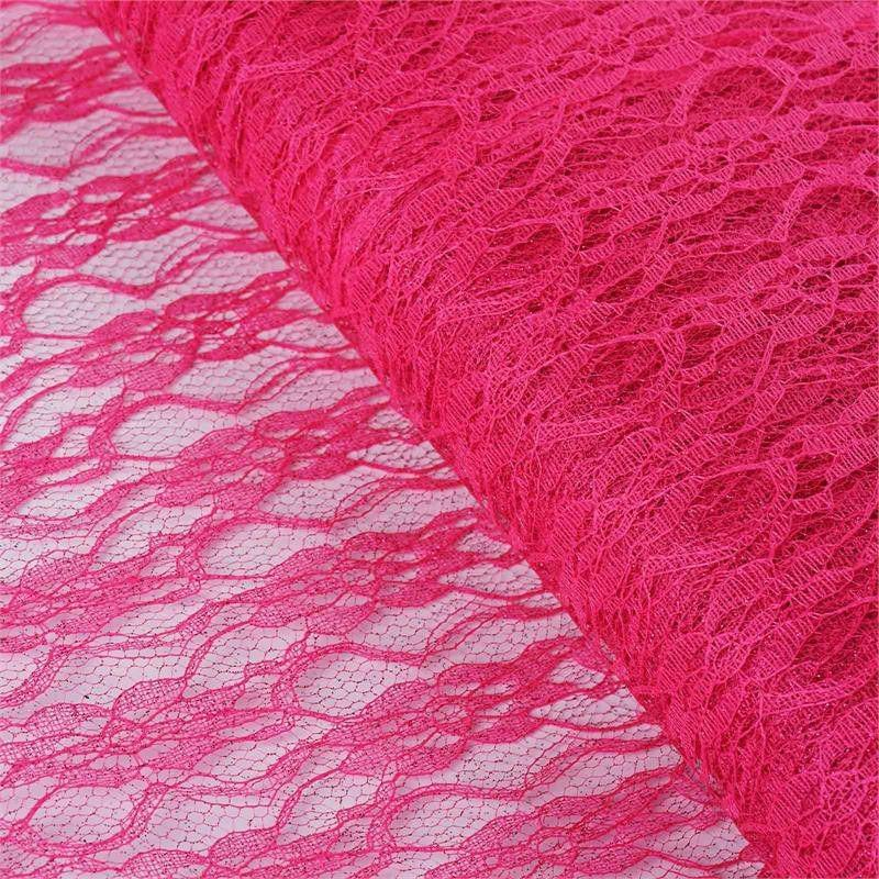 BalsaCircle 54 inch x 15 yards Glittered Lace Fabric by the Bolt Crafts Sewing Wedding Party Draping DIY Decorations