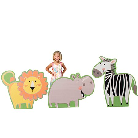 3 ft. 3 in. Jungle Buddies Animal Standee Set](Cardboard Animals)