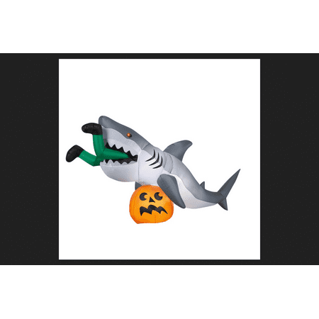 Gemmy Industries Get Caught By A Shark Lighted Halloween Inflatable 48.8 in. H x 107.5 in. W x 35