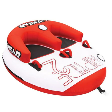 Airhead Riptide 2 Double Rider Inflatable Boat Towable Backrest Tube |