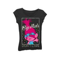 "Dreamworks Trolls ""Big Hair Don'T Care"" Graphic T-Shirt (Little Girls & Big Girls)"