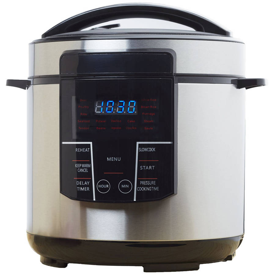 Brentwood 6-Quart Electric Pressure Cooker by Brentwood