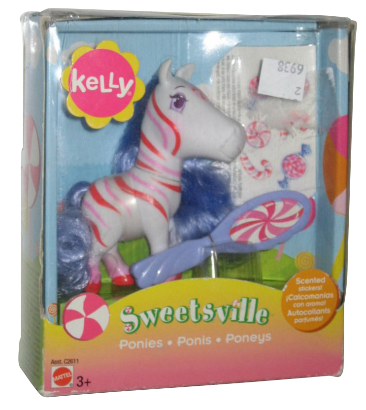Sweetsville Kelly White Pepperment Scented Pony Toy Figure