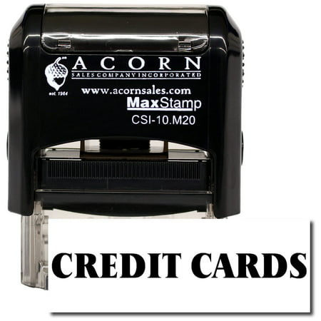 Self-Inking Credit Cards Stamp with Mint Green Ink ()