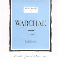 """Warchal Brilliant 15""""-16"""" Viola G String - Medium Gauge - Silver Wound Synthetic Core"""