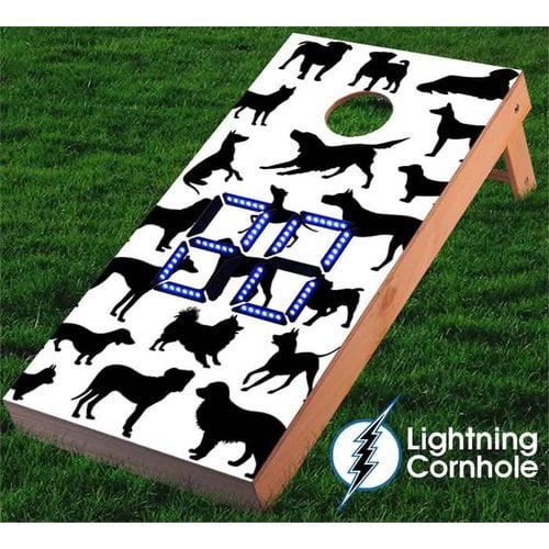 Lightning Cornhole Electronic Scoring Dog Assortment Cornhole Board by