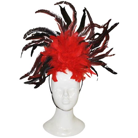 Red And Black Feathers Headpiece
