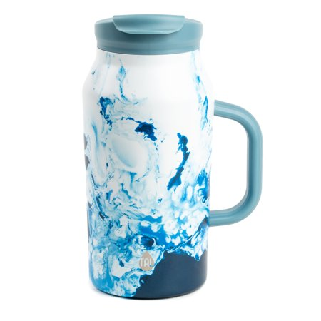 Tal 40 Ounce Blue Swirl Stainless Steel Basin Water Bottle