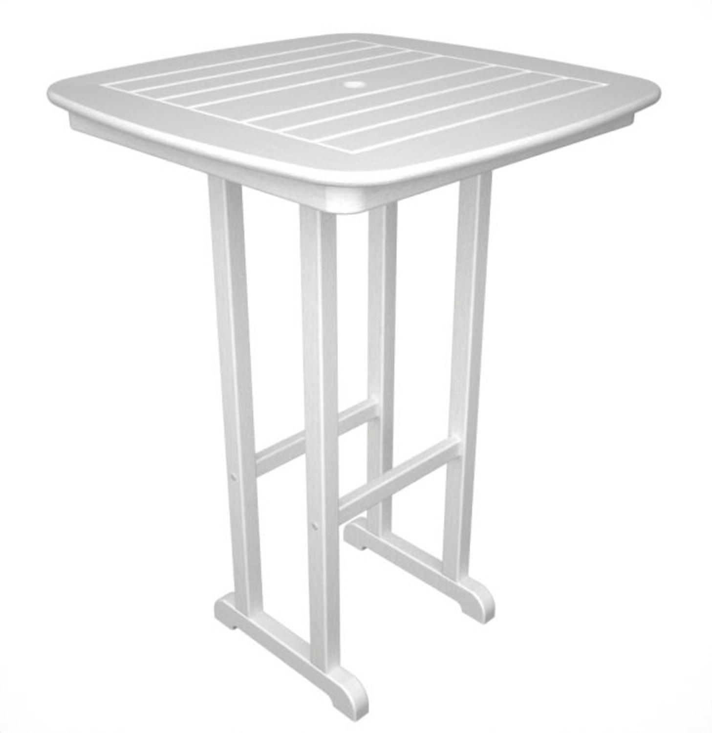"""31"""" Recycled Earth-Friendly Cape Cod Outdoor Patio Pub Table White by Eco-Friendly Furnishings"""