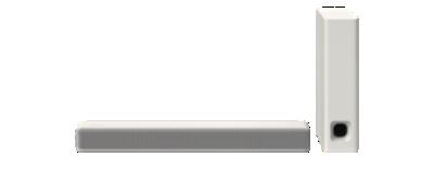 Sony 2.1 Mini Sound Bar With Wireless Subwoofer - White (HTMT300/W)