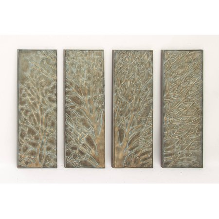 Decmode metal wall decor set of 4 multi color for Walmart art decor