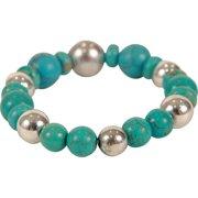 290-TBRND Bret Roberts Turquoise Round Bead Bracelet