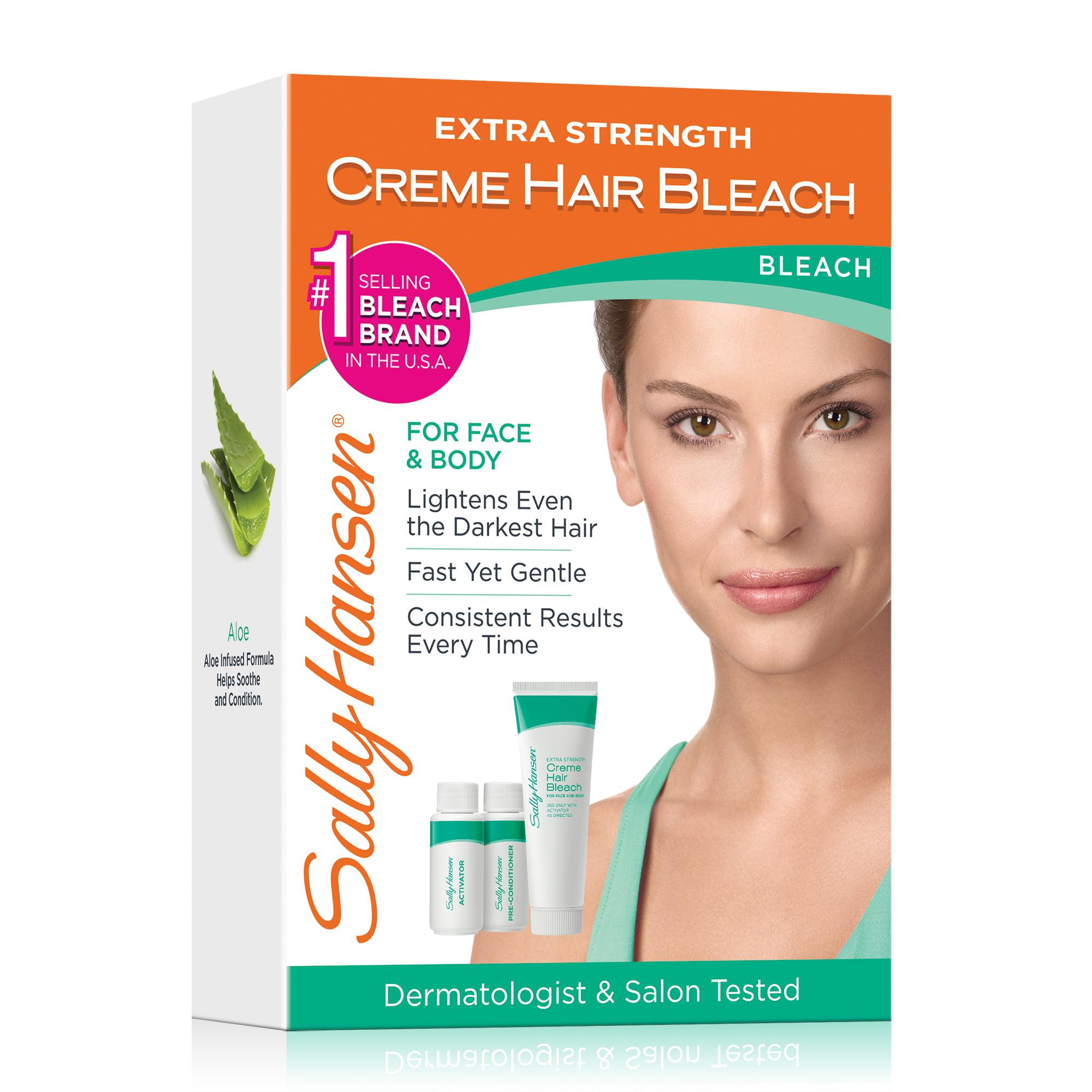 Sally Hansen Extra Strength Creme Hair Bleach For Face & Body Kit