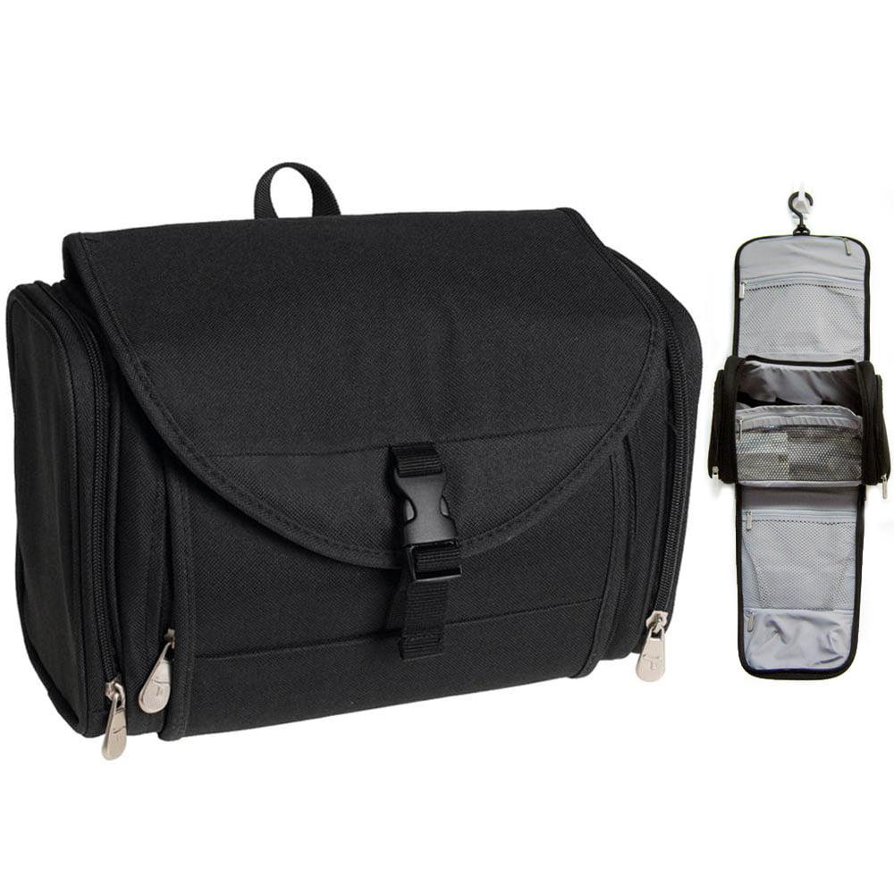Travelon Travel Toiletry Hanging Bag Kit Black Case Organizer Shaving Beauty New image