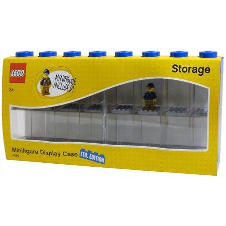 Lego Large 16 Minifigure Storage And Display Case Blue