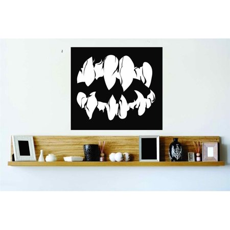 New Wall Ideas Vampire Mouth Fang Horror Scary Home Halloween Party Kids 20x20 - Halloween Party Scary Food Ideas
