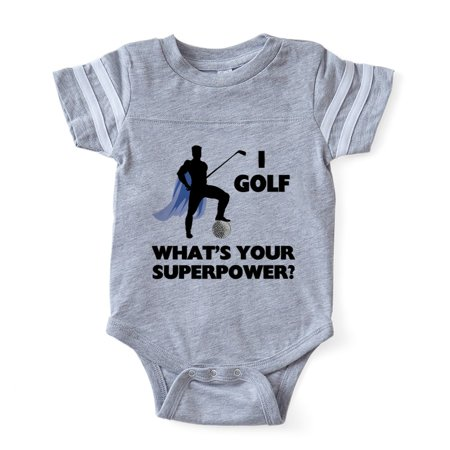 CafePress - Golf Superhero - Cute Infant Baby Football Bodysuit - Superhero Bodysuit