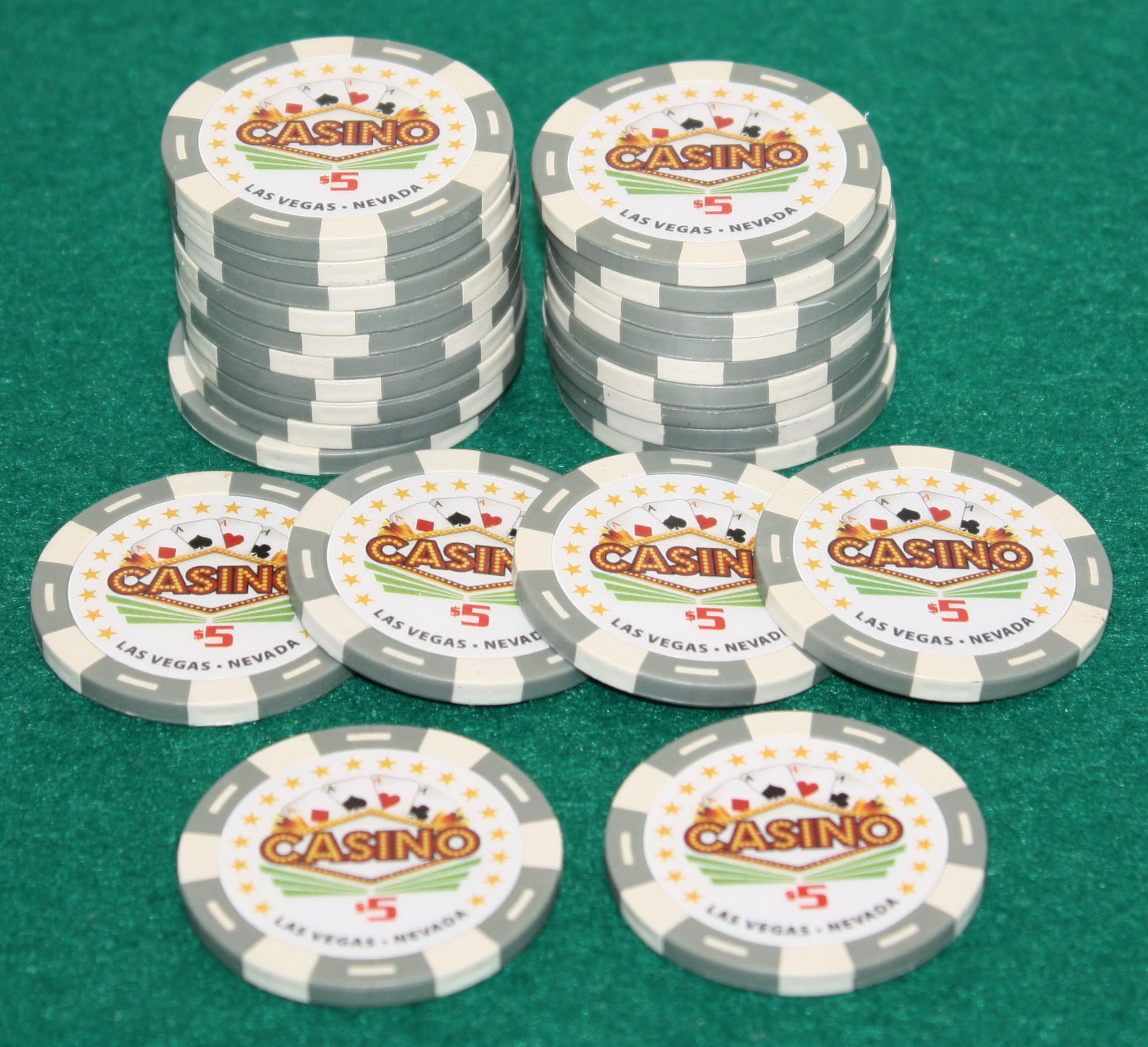 $5 Pro Vegas Casino Chips *Super High Quality* Poker Chip 11.5 Grams (QTY: 25) by