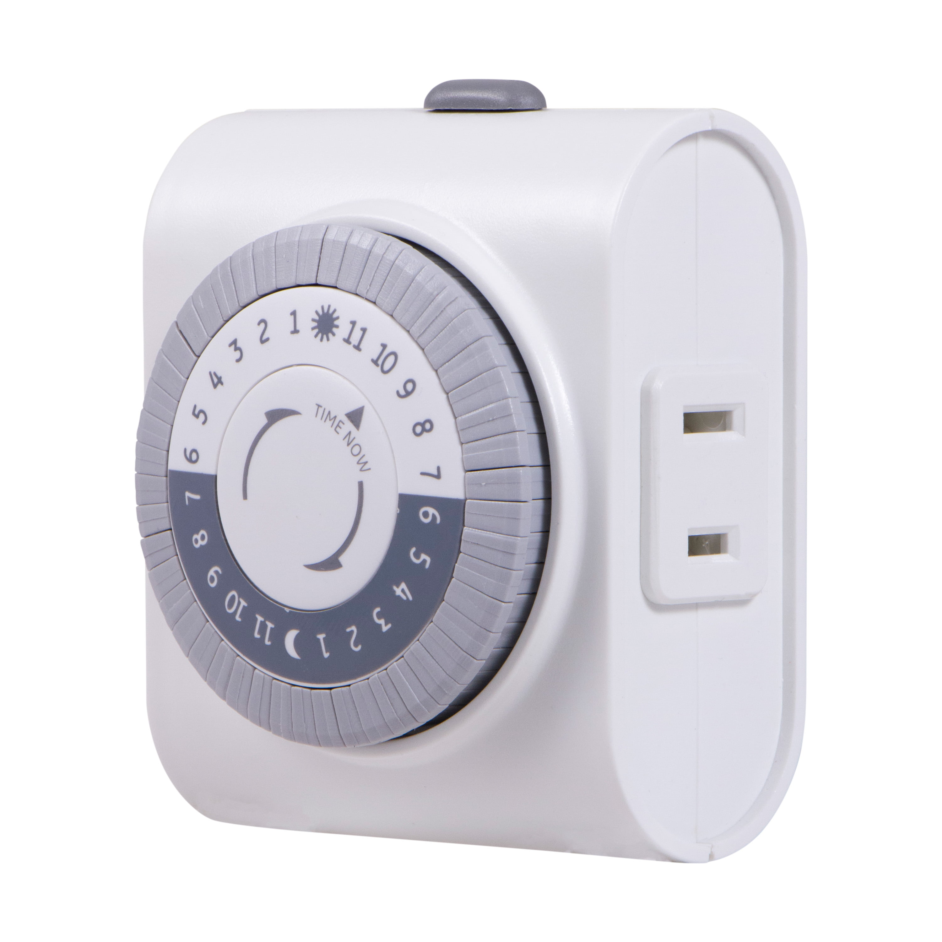 GE 24-Hour Indoor Plug-In Mechanical Timer, 1-Outlet, White, 15076 by Jasco Products Company, LLC