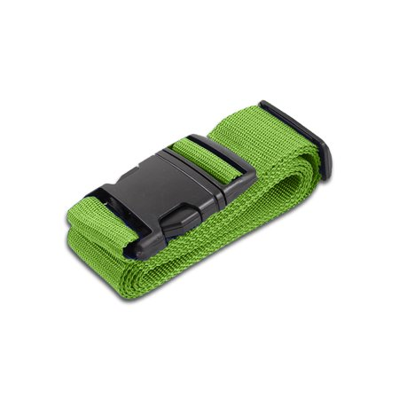 HeroFiber Lime Green Luggage Belts Suitcase Straps Adjustable and Durable, Travel Case Accessories, 1 Pack