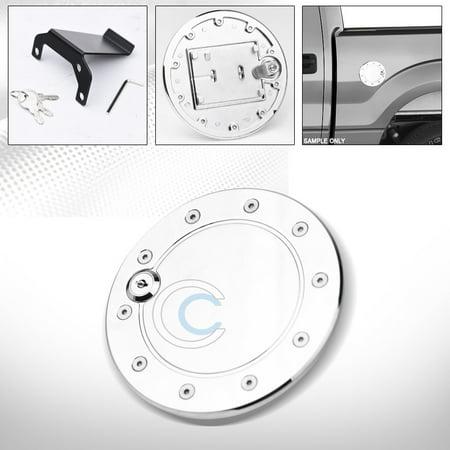 Velocity Concepts Chrome Aluminum Fuel Gas Door Cover Cap W/Lock Key 09-14 Ford F150 Pickup - Ford F150 Fuel Door