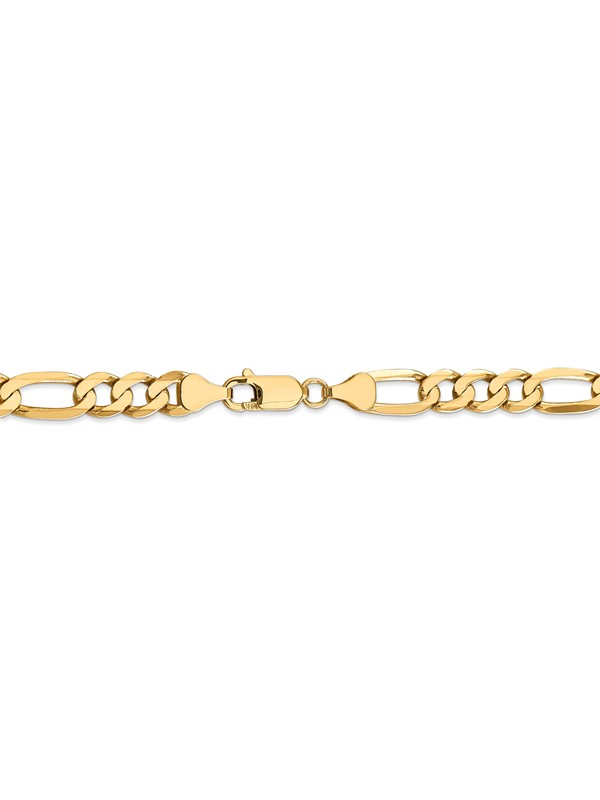 14k 2.25mm Flat Figaro Chain