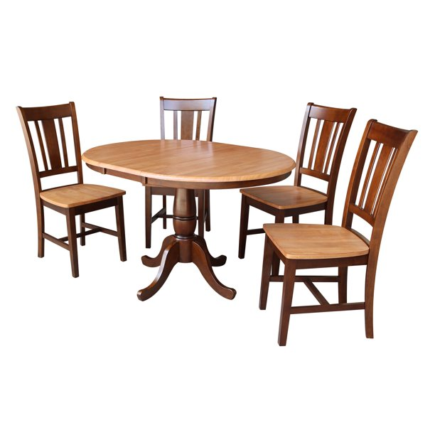 San Remo Chairs Cinnamon Espresso, Round Dining Table For 12