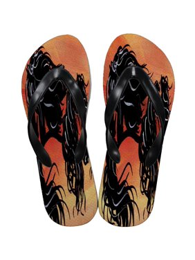 8b8f207bd05 Product Image KuzmarK Flip Flop Thong Sandals Unisex - Abstract Andalusians  Horse Art by Denise Every