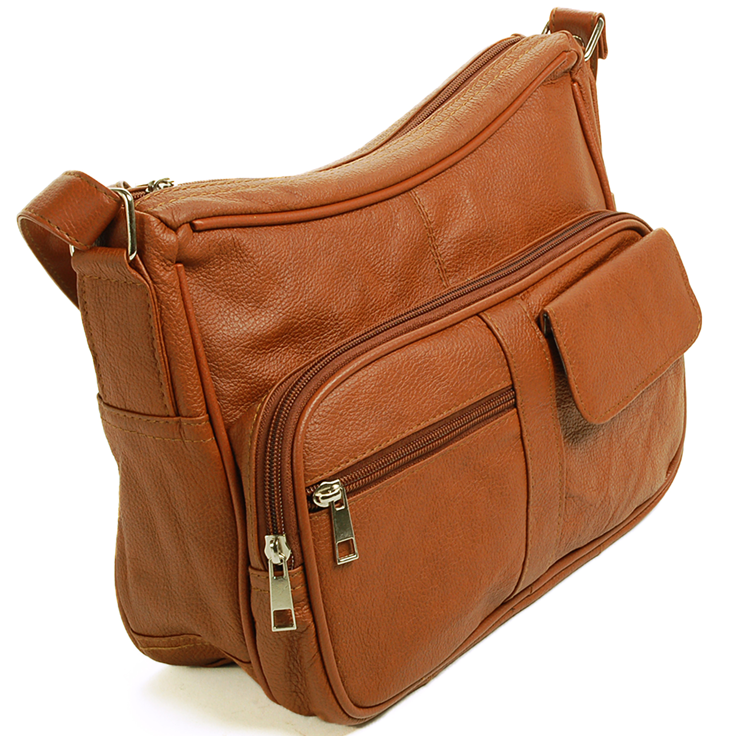 8cde021c26 SBR Designs - Women s Leather Organizer Purse Shoulder Bag Multiple Pockets Cross  Body Handbag - Walmart.com