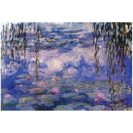 Claude Monet Water Lilies with Clouds Art Poster Print Poster - 19x13 - Halloween Water Lily Description