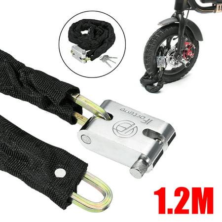 1.2M Metal Motorcycle Motorbike Heavty Duty Chain Lock Padlock Bicycle Scooter Padlock Bike Lock