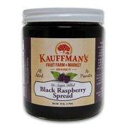 Kauffman's Black Raspberry Fruit Spread, No Sugar Added, 18 Oz. Jar