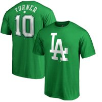 d3876063 Product Image Justin Turner Los Angeles Dodgers Majestic St. Patrick's Day  Name & Number T-Shirt