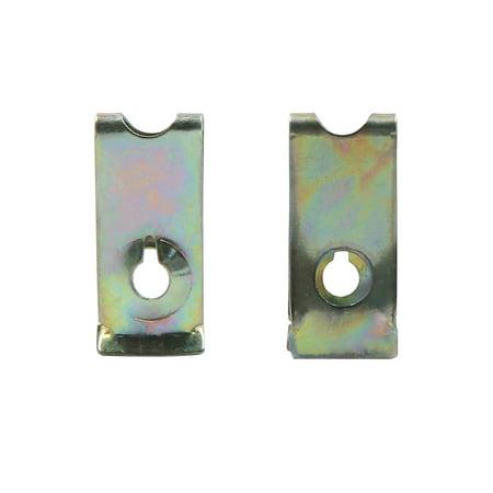 4pc vis métal Auto Fixation Capot Pare-Choc Fixation Clip Rivet Aile - image 2 de 3