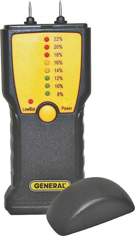 General Tools MM1E Moisture Meter, 7 15% WME Low, 16 35% WME High, LED Display by General Tools & Instruments