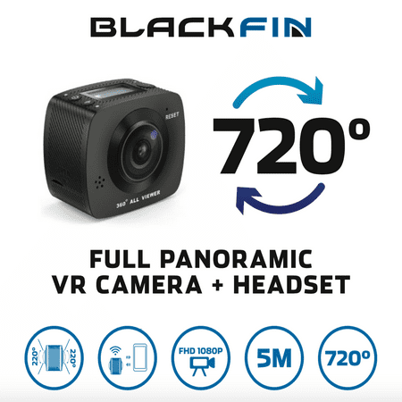 720 VR ACTION CAMERA & HEADSET by Black Fin®
