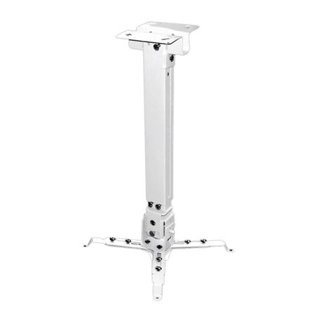 PYLE PRJCM3 - Universal Projector Ceiling Mount Kit with Telescoping Height and Angle Adjustment (White) ()