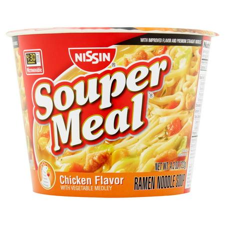 Nissin Souper Meal Chicken Flavor Ramen Noodle Soup, 4.3 oz