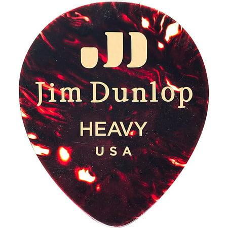 Dunlop Celluloid Teardrop Guitar Picks, Shell Heavy 12 Pack
