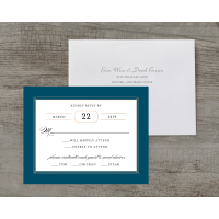 Personalized Wedding RSVP - Elegant Lines - 4.25 x 5.5 Flat Deluxe