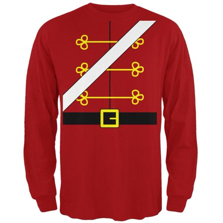 Christmas Toy Soldier Nutcracker Costume Mens Long Sleeve T Shirt