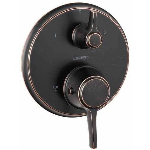 Hansgrohe 15753001 C Thermostatic Trim w/ Volume Control & Diverter (Chrome)