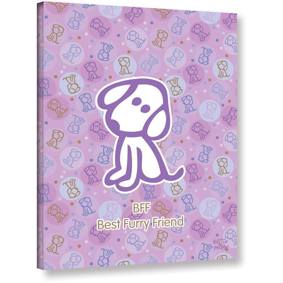 """FeLittle People """"Best Furry Friend"""" Wrapped Canvas"""
