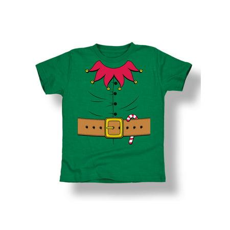 Christmas Elf Costume Candy Cane Belt Jingle Bells Santa Cool-Toddler T-Shirt - Candy Cane Costumes