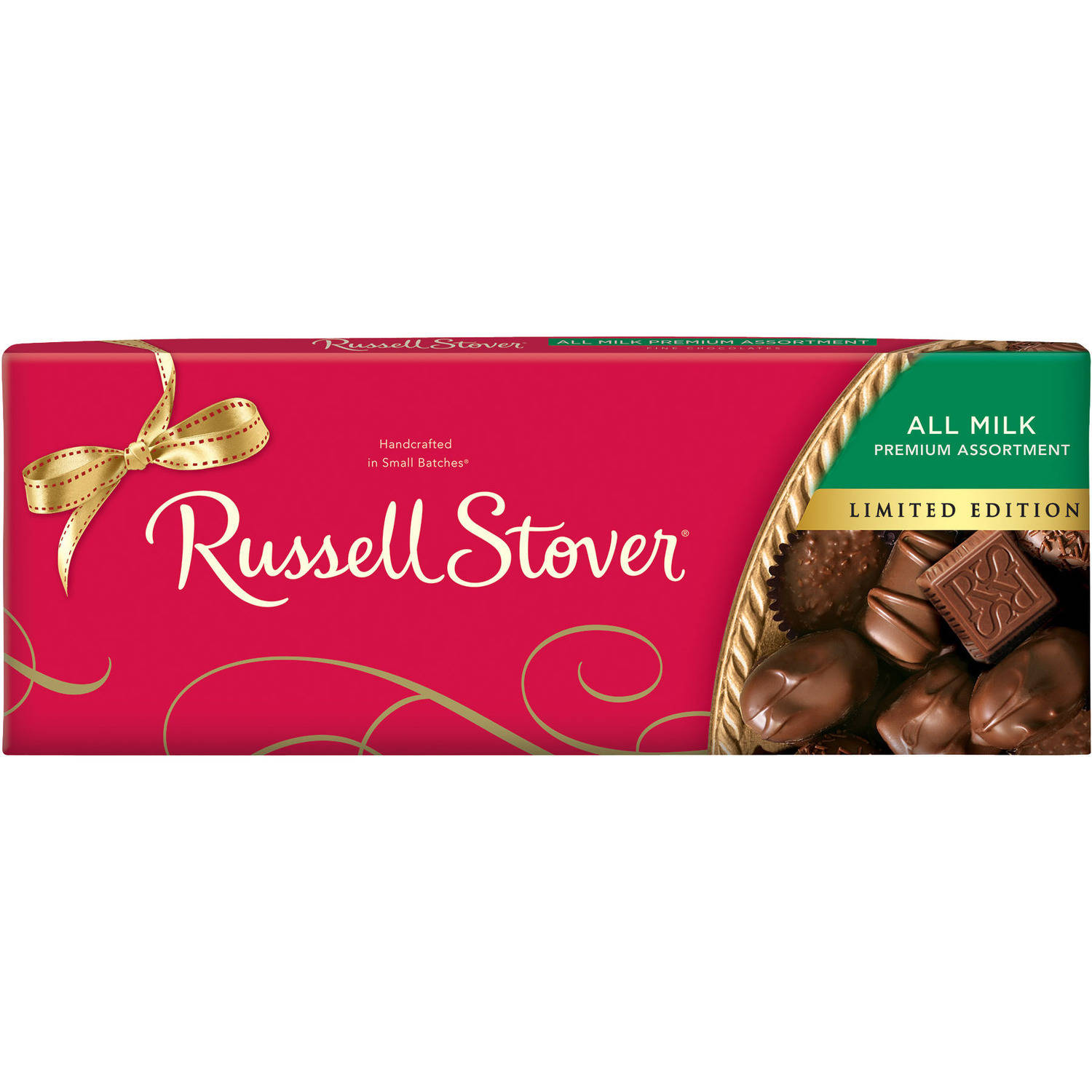 Russell Stover Limited Edition All Milk Chocolate Premium Assortment Holiday Gift, 11 oz