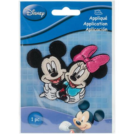 - Disney Mickey Mouse Iron-On Applique-Mickey & Minnie