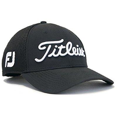 Titleist Sports Mesh 2016 Hat (Medium/Large, Black)