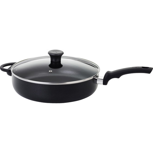 "T-fal Thermo-Spot Nonstick Soft Handles 12"" Jumbo Cooker, Black"