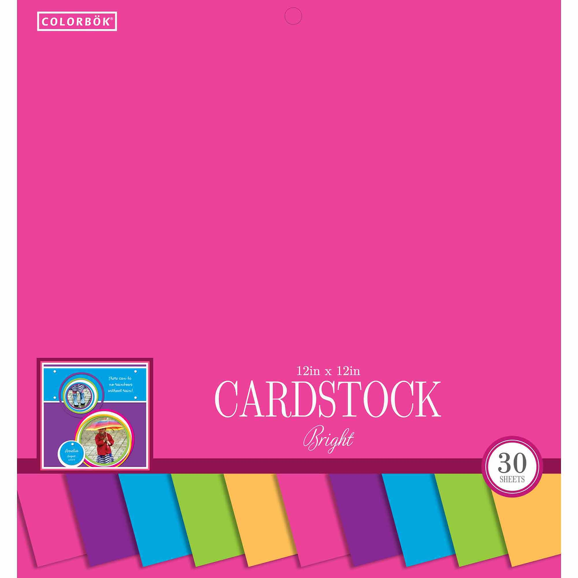 "Colorbok 12"" Smooth Cardstock Bright Pad"