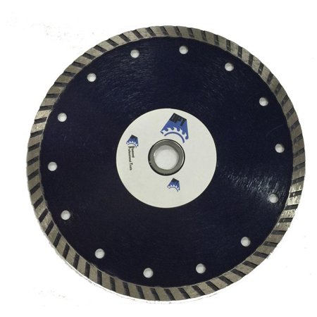 Premium Plus Diamond Blade - DPT 7 Inch Diamond Saw Blade Wet/ Dry Turbo for Cutting Tile, Ceramic, Concret, Bricks, Stone, and Masonry Materials, Super Plus Quality